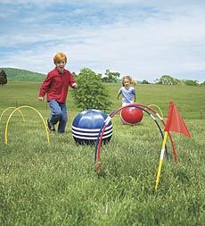 Soccer Croquet... this would be fun for a party (or for practice!)