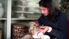 Great stylist... Never seen such well-done tight curls on AG! American Girl Doll Hair How-to  Pin Curls