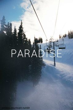 snow is my paradise.