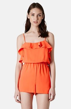 Topshop Ruffle Front Romper available at #Nordstrom