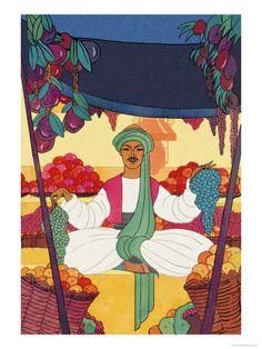 Afghanistan - The Bazaar Fruit-Seller, 1925