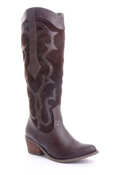 Cowboy Boots In Brown.