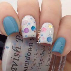 Instagram photo by amc896 #nail #nails #nailart polka dots, mondays, nail designs, acrylics, nail arts, nail nailart, nails, beach, bubbl