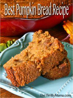 recipe for whole grain pumpkin bread