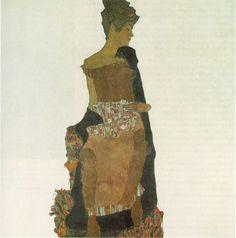 Portrait of Gerti Schiele. 1909  by Egon Schiele.