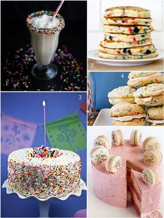top funfetti recipes from around the web | #funfetti #sweets #dessert #sprinkles #rainbowsprinkles