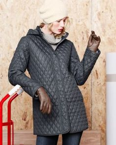 Quilted Car Coat in sparrow - 6 (not 4, runs small)