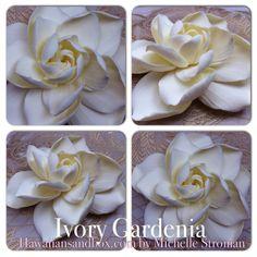 Hawaiian Gardenia Romantic Ivory Couture Hair by HawaiianSandbox, $22.00