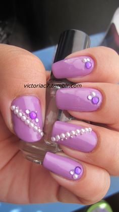 purple nails by victoria! (: