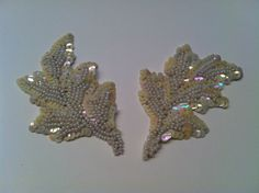 Vintage Sequin and Beaded Pearl Applique by TheDearestDollhouse, $8.00