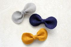Simple bows for hair