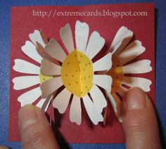 How to make a three flower pop up card