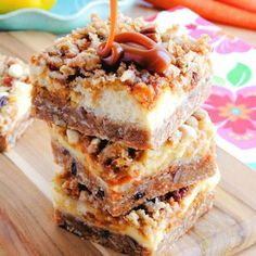 carrot cake cheesecake crumble bars more desserts recipe carrot cakes ...