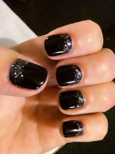 black glitter nail tips, nail polish, dazzl glitter, nail designs, manicur, colour gloss, nail arts, glitter nails, black nails