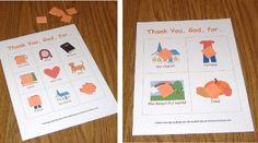 Thankgiving Game of BIBLE Bingo for Children's Sunday School