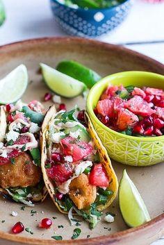 Crispy Fish Tacos with Citrus Slaw