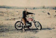 old school biker chick