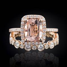 Kick off the end of your week with this dreamy morganite engagement ring! #ring #wedding #engagement #morganite #ring Shop: Laurie Sarah Designs ---> https://www.etsy.com/shop/lauriesarahdesigns