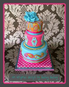 By Design Paisley Birthday Cake | Bakey Bakey Funky Paisley Cake photo by Bakey Bakey from Flickr at ...