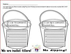 Bucket filler worksheet