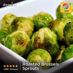 Roasted Brussels Sprouts from Allrecipes.com #myplate #veggies
