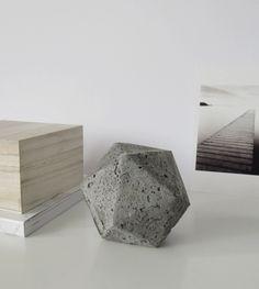 DIY Geometric Concrete Paperweight