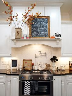 Fall is here and decorating your house in time for the season is exciting. Dried twigs, leaves, flowers and pumpkins are everywhere especially in the kitchen.