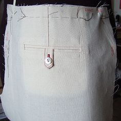 Best tutorial for sewing a Welt pocket.