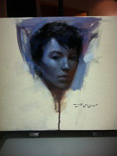 Casey Baugh painting from a demo at  Studio 81, Woodstock, GA