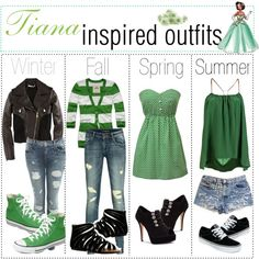 """""""Tiana inspired outfits :)"""" by shannonstyles on Polyvore"""