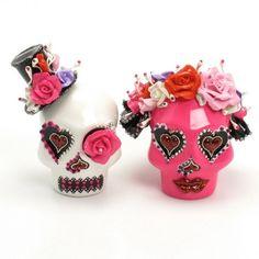 Skull Wedding Cake Topper A00159