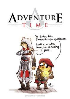 geek, adventure time, assassins creed crossover, assassin time, assassin creed