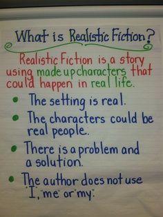 realistic fiction anchor chart   Realistic fiction