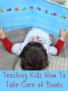Tips for teaching kids to take care of books from Growing Book By Book