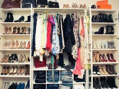 Using bookcases as shoe storage!