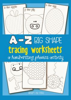A-Z Big Shape Tracing Worksheets (from Frog Spot)