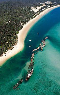 Moreton Bay, Queensland, Australia...