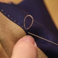 Pick stitching the facings is one of the cool heirloom sewing techniques I share in this step by step tailoring class.