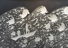 The Water Is Wide by Maude White papercut art