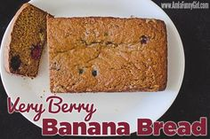 Very Berry Banana Bread via @liz z P  // #Banana #BananaBread #Recipe