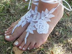 Free Ship bridal banglewhite lace anklet by JasmneAccessores, $25.00