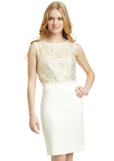 TAHARI ARTHUR S. LEVINE Petite Lace Detail Sleeveless Dress -- bought for rehearsal dinner/alternate civil ceremony option.
