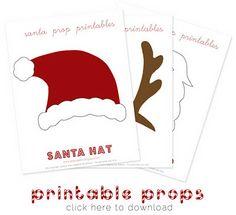 printable christmas photo props