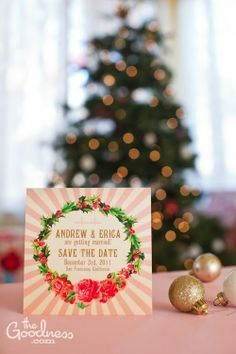 Andrew and Erica's pink Christmas wedding design | The Goodness