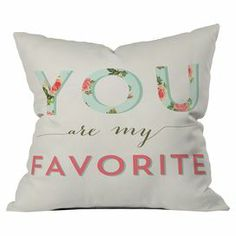 by artist Allyson Johnson, this delightful pillow brings a touch of charm