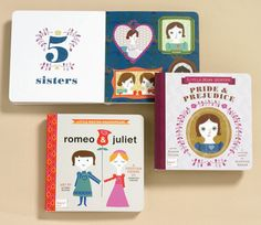 book lists, baby gifts, board book, jane austen, future kids, baby books, classic books, novel, books for kids