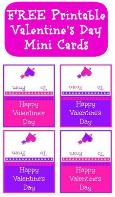 FREE Printable Valentine Mini Cards
