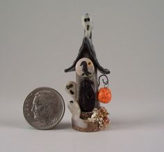 OOAK Miniature Spooky Halloween Fairy House By O'Dare. $7.00, via Etsy.
