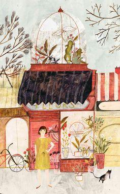 Katie Harnett - The Lonely Raincloud illustration #telemarketing