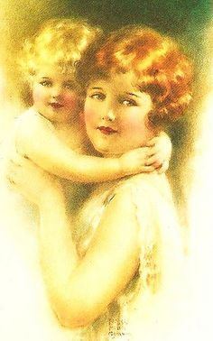 mother  child by in pastel, via Flickr